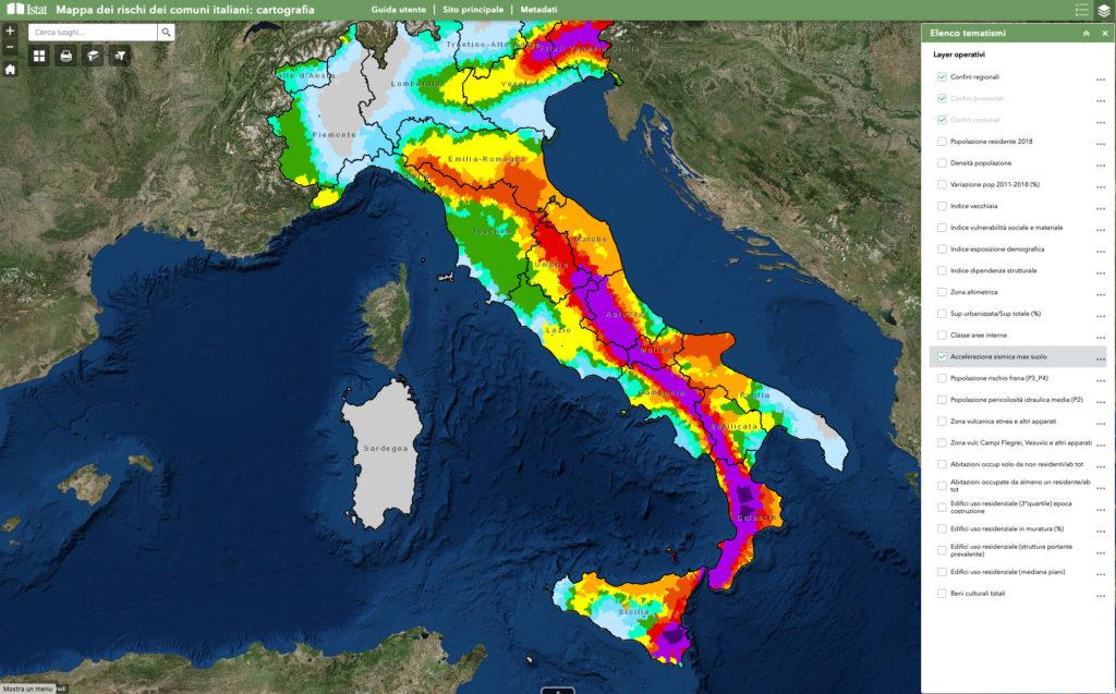 Cartina Italia Per Siti Web.La Mappa Dei Rischi Naturali Dei Comuni Italiani Sicuriperdavvero
